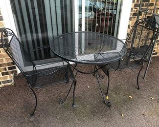Iron patio furniture.......