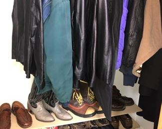Men's jackets and shoes