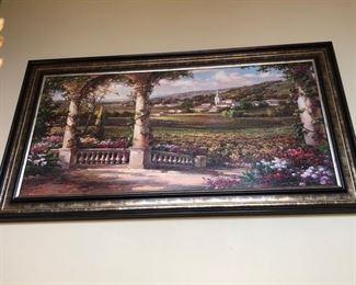Framed artwork.....