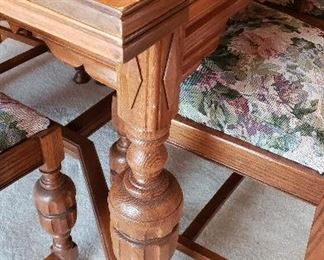 oak dining table legs - beautiful