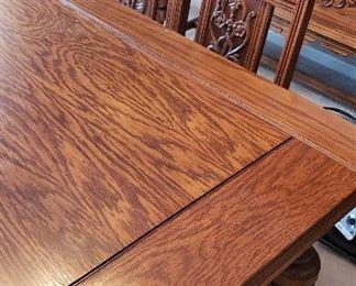 Grandma's oak dining table