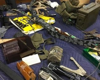 Military gun cases as well as others.