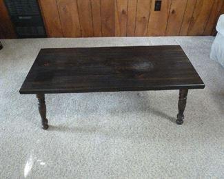 Wood ebony coffee table 40x17x15