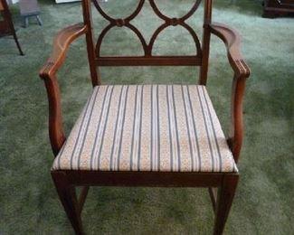 1 Mahogany dining set arm chair