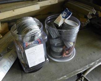 zinc mason jar canning lids