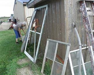 assortment of old windows
