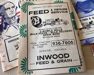 Inwood Feed & Grain adv pieces