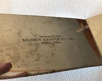 Bourbon Elevator 1965 adv piece