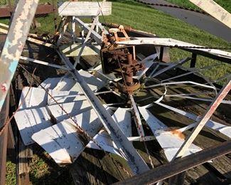 Closeup of windmill