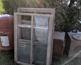 assortment of vintage windows