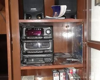 Stereo equipment for the man cave in the garage.