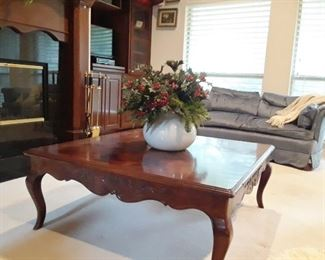 Lovely coffee table. and one of several sofas. Sofas $50 each. Table $75