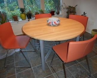 IKEA Berhard Chairs with Butcher Block Table