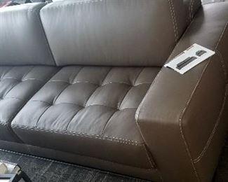 1 year old hardly used  leather sofa