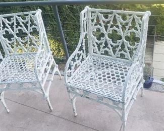 Iron patio chairs