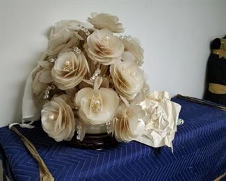 Vintage Capiz Shell Floral  Display/Arrangement.
