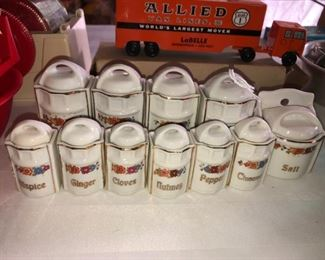 Made in Germany child's spice and canister set