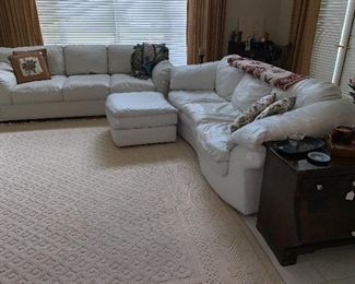 Pair of White Leather couches