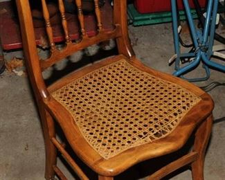 NICE EARLY VICTORIAN CANE SEAT CHAIR