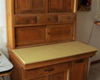 LARGE HOOSIER STYLE KITCHEN CABINET
