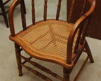 CANE SEAT FIREHOUSE CHAIR