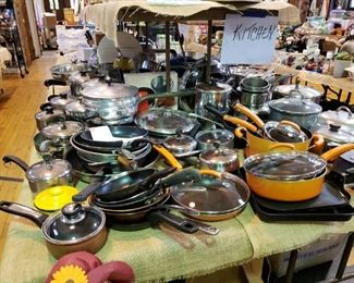 Loads of pots and pans