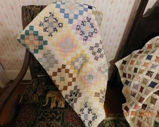 Great handmade quilts.