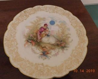 Sevres hand painted plate.