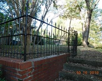 Great old wrought iron fence.
