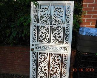 Wrought iron security doors.