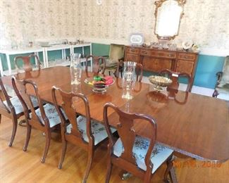 Large cherry dinning room table.