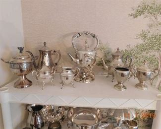 Lots of silver plate.
