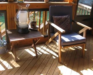 lovely wooden sun porch furniture