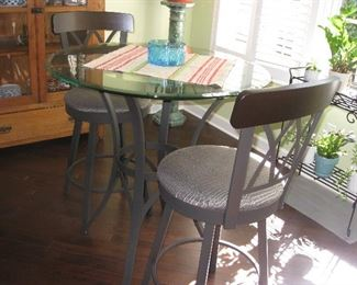 tall chairs with table