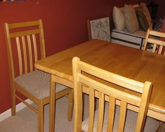 smaller table and chairs