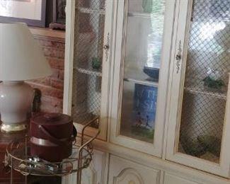 Vintage beverage cart and Hamm's Beer Goblets