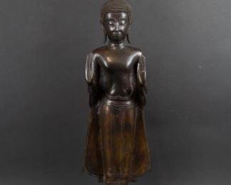 A Bronze Sukhothai Style Figure of Buddha