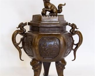 A Massive Metal Dragon Censer