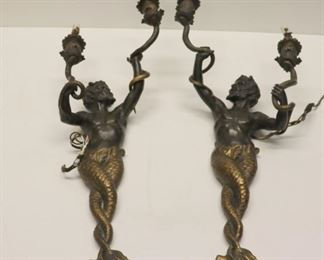 Antique And Quality Pair Of Patinated And Gilt