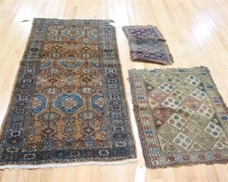 Antique And Finely Hand Woven Throw Rugs