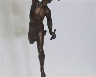 Antique Bronze Sculpture Of Mercury