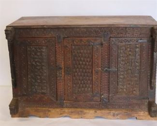 Antique Continental Carved Cabinet