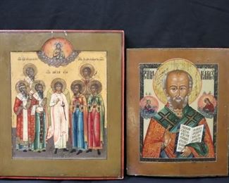 Antique Greek Religious Icons