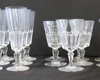 Baccarat Crystal Stemware Grouping with a Pair of