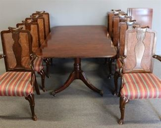 BAKER Signed Mahogany Banded Table Leaves