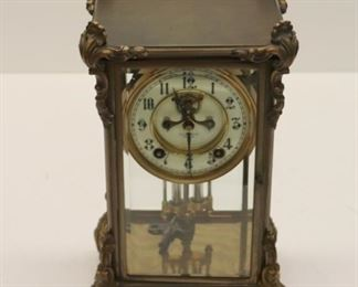 CD Peacock Chicago Gilt Metal Carriage Clock