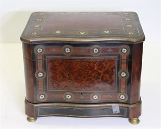 Charles DIEHL French Tantalus MOP Inlaid Burl Bar