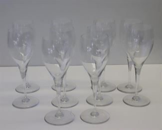Group of Baccarat Wine Glasses