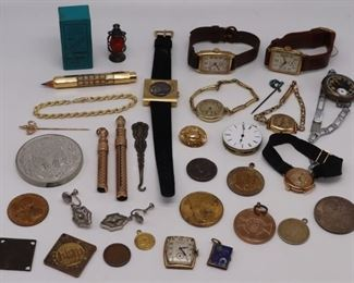 JEWELRY Assorted Jewelry and Objects Inc Gold