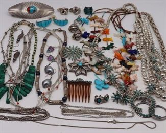 JEWELRY Assorted Silver and Southwest Jewelry